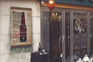 Venetian Bar Style | Poster Mockup