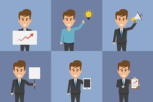 20 Business Concept Idea Characters
