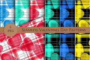 Seamless Valentines Day Patterns Set