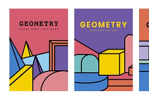 Colorful geometry mockup graphic