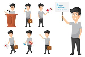 Businessman Character And Activities