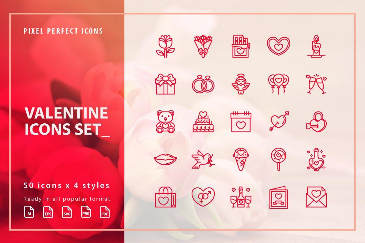 Love / Valentine / Wedding Icons Set