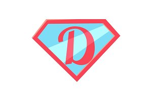 Happy Fathers Day Logo. Letter D