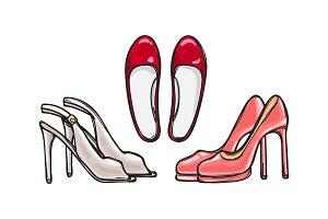 Three Pairs of Heel Shoes