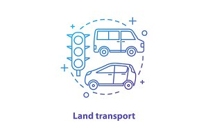 Land transport concept icon