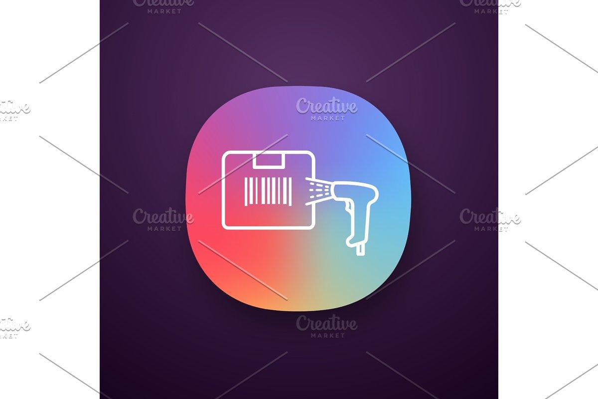 Box label scanning app icon