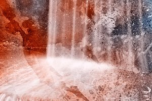 Acrylic Grunge Falls