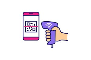 Payment QR with code scanner icon