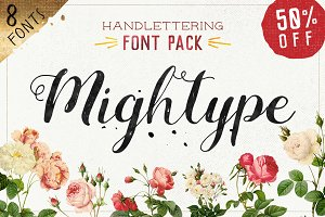 Mightype FontPack Handlettering