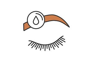 Makeup removal color icon