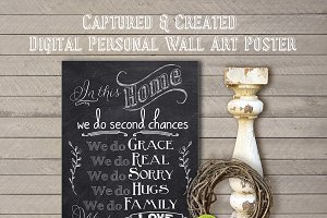 IN THIS HOME Wall Art Poster