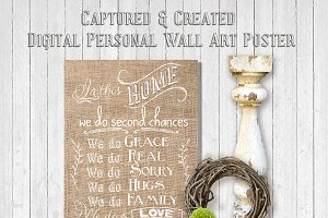 Burlap- In This Home-Wall Art Poster