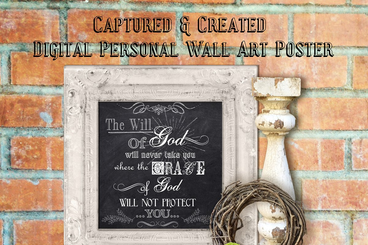 Chalkboard-The Will Of God- Wall Art in Illustrations - product preview 8
