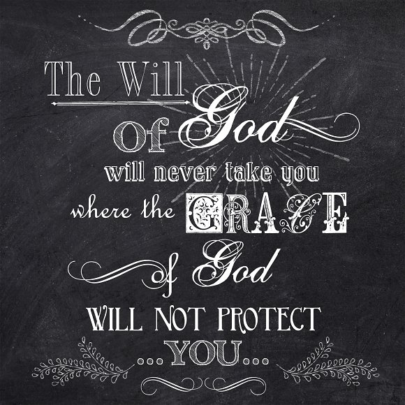 Chalkboard-The Will Of God- Wall Art in Illustrations - product preview 1