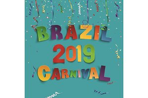 Brazil carnival 2019 background with