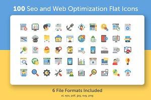 Flat SEO and Web Optimization Icons
