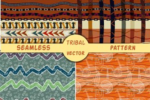 4 Tribal ethnic vector texture