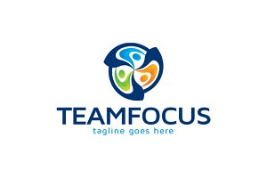 Team Focus Logo Template