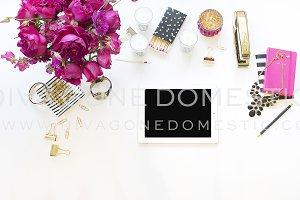 iPad Hot Pink Black Desktop