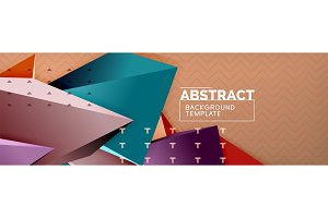 Vector 3d triangular shapes abstract
