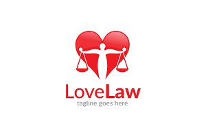Love Law Logo Template