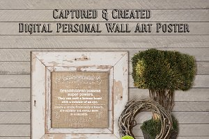 Wall Art Poster-Burlap-Grandchildren