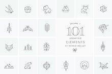 101 Geometric Logo Elements EPS PSD