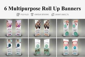 6 Multipurporse Roll Up Bannser