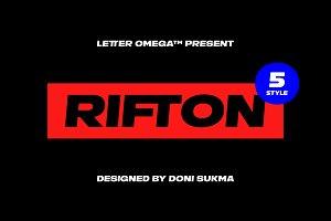 RIFTON Super Black typeface 50% OFF
