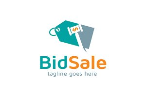 Bid Sale Logo Template