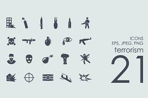 21 terrorism icons