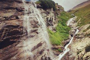 Waterfalls on Grossglockner glacier