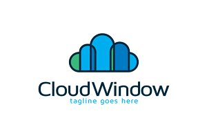 Cloud Window Logo Template