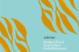 17 Hand Drawn Floral Embellishments