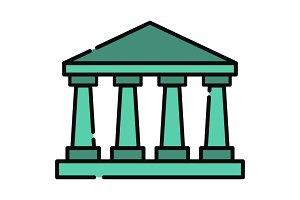 Greek temple icon