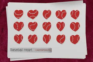 Baseball Heart. Sport.