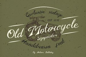Old Motorcycle handwritten font