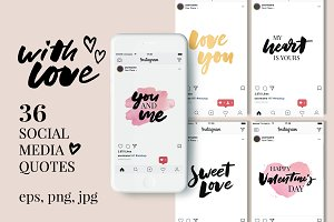 With Love Social Media Quotes Pack