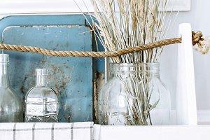 styled white wood box
