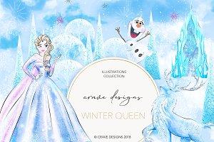Winter Queen Clip Art