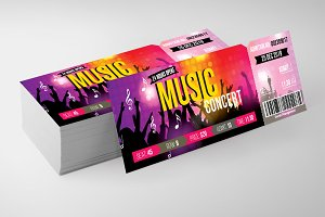 Music Concert Party Pass Templates