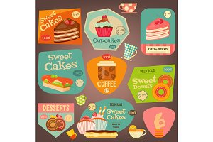 Set of Cakes Stickers