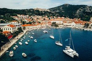 Aerial view photo of picturesque por