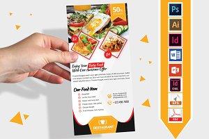 Rack Card | Restaurant DL Flyer V-02