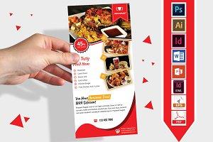Rack Card | Restaurant DL Flyer V-03