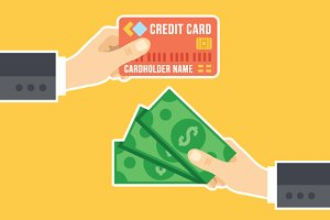 Credit Card, Cash & Cashback Concept