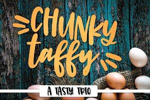 Chunky Taffy - A Silly Font Trio
