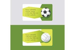 Sport vector business card football