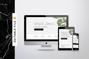 'Elegance' Responsive Web Template