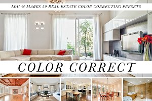 50 Real Estate Color Correct Presets